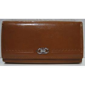 Женский классический кошелёк на магните (горчичный) 19-05-089