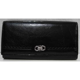 Женский классический кошелёк на магните (чёрный) 19-05-089