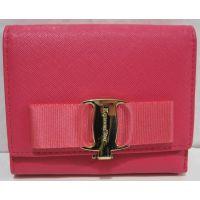Женский небольшой раскладной кошелёк (малиновый) 18-10-074