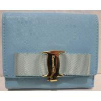 Женский небольшой раскладной кошелёк (голубой) 18-10-074