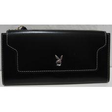 Женский кошелёк на кнопке (чёрный) 18-10-084