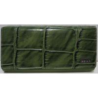 Женский комбинированный кошелёк (тёмно-салатовый) 19-02-005
