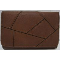 Женский небольшой раскладной кошелёк (коричневый) 19-02-007