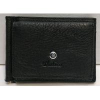 Мужской кожаный зажим Balisa (чёрный) 20-12-055