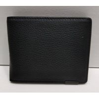 Мужской кожаный кошелёк-визитница (чёрная) 21-08-090