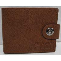 Мужской раскладной кошелёк на кнопке-магните (рыжий-2) 18-10-073