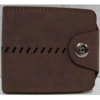Мужской тканевый раскладной кошелёк на кнопке (рыжий) 19-02-003