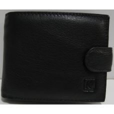 Мужской кожаный кошелёк с визитницей Kingplum (чёрный) 19-03-003