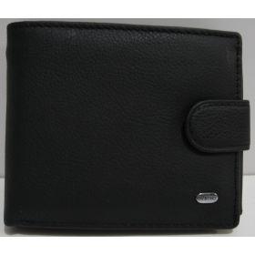 Мужской кожаный кошелёк Dr.Bond (чёрный) 19-03-005