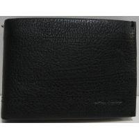 Мужской кожаный кошелёк-зажим Las Fero (чёрный) 19-03-014