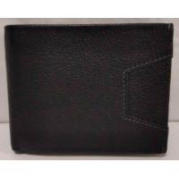 Мужской кожаный кошелёк с зажимом (чёрный) 20-01-050