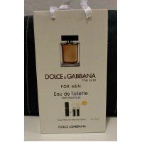 Подарочный парфюмерный набор с феромонами мужской D&G The One for Men ( 3x15 мл) 18-01-044