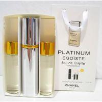 Мужской пафюмерный набор с феромонами Chanel Egoїste Platinum (3х15 мл) 18-06-248