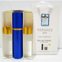Мужской пафюмерный набор с феромонами Versace Man Eau Fraiche (3х15 мл) 18-06-249