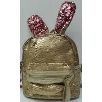 Детский рюкзак с паетками с ушками Заяц 18-06-024