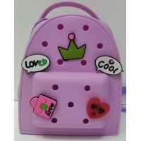 Детский  силиконовый рюкзак   (фиолетовый) 20-11-323