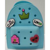 Детский  силиконовый рюкзак   (голубой) 20-11-323