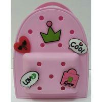 Детский  силиконовый рюкзак   (розовый) 20-11-323