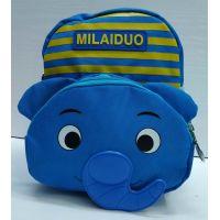 """Детский  тканевый рюкзак """"Слоник""""  (голубой) 21-05-033"""