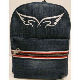 Городской джинсовый рюкзак (синий) 18-06-033