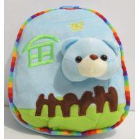 """Детский рюкзак """"Зверята в домике"""" (медвежонок) 16-12-005"""