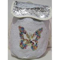 Детский рюкзак с паетками  (белый) 17-12-208