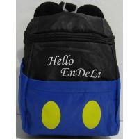 """Детский рюкзак """"Микки Маус"""" (чёрный с синей вставкой) 17-7-148"""
