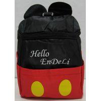 """Детский рюкзак """"Микки Маус"""" (чёрный с красной вставкой) 17-7-148"""
