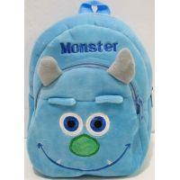 Детский плюшевый рюкзачок (Монстер-голубой) 18-10-088
