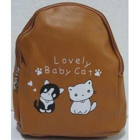 Детский рюкзачок с котиками (коричневый) 19-08-035