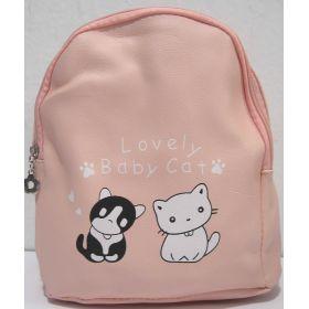 Детский рюкзачок с котиками (пудровый) 19-08-035