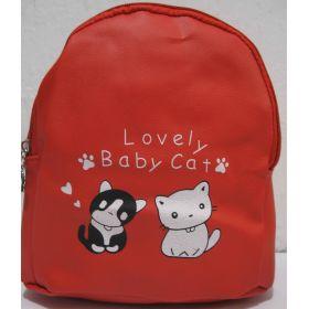 Детский рюкзачок с котиками (красный) 19-08-035