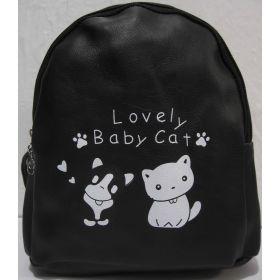 Детский рюкзачок с котиками (чёрный) 19-08-035