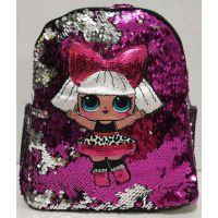 Детский рюкзак LOL с двухсторонними паетками (малиновый) 19-08-053