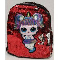 Детский рюкзак LOL с двухсторонними паетками (красный) 19-08-056