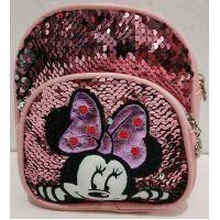 Детский небольшой рюкзак-сумка (розовый)19-09-024