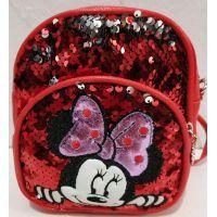 Детский небольшой рюкзак-сумка (красный)19-09-024