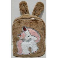 """Детский меховый рюкзак """"Единорог"""" (коричневый) 19-11-003"""