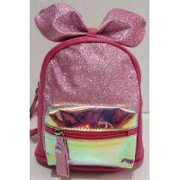 Детский небольшой рюкзачок для девочки с прозрачным карманчиком (малиновый) 20-01-026