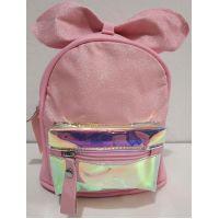 Детский небольшой рюкзачок для девочки с прозрачным карманчиком (розовый) 20-01-026