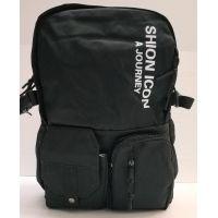 Тканевой рюкзак с карманами  (чёрный)  20-12-047