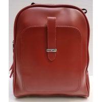 Женский городской рюкзак-сумка (красный) 21-02-002