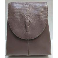 Женский городской рюкзак-сумка (светлый бургунд) 21-02-003