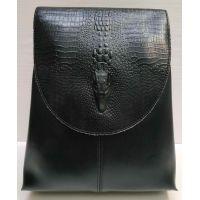 Женский городской рюкзак-сумка (чёрный) 21-02-003