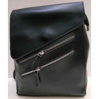 Женский городской рюкзак-сумка (чёрный) 21-02-005