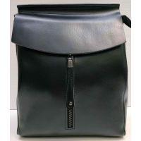 Женский кожаный рюкзак-сумка Alex Rai (чёрный) 21-03-027