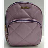 Женский городской стёганый рюкзак (сиреневый) 21-04-001