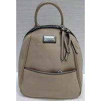 Женский средний рюкзак-сумка  Suliya  (бежевый)  21-06-153
