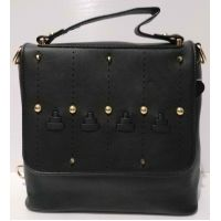 Женский рюкзак-сумка (чёрный) 20-11-002