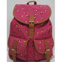 """Тканевый рюкзак с карманом """"Совы"""" (розовый) 17-8-003"""